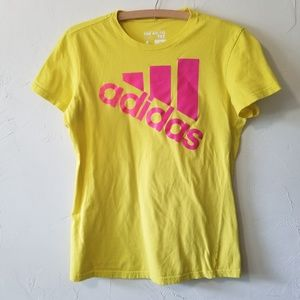 Adidas The Go-To Tee Yellow T-shirt Size L